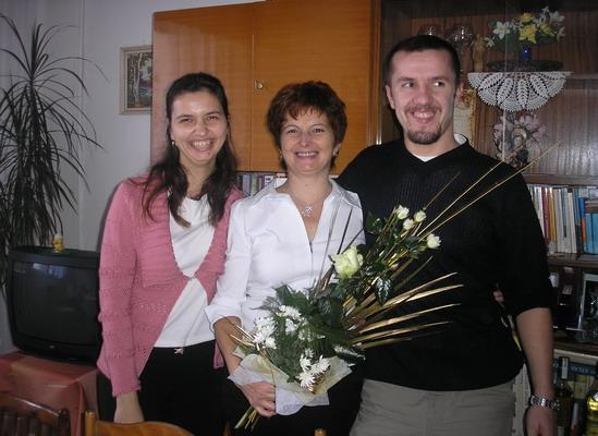 Prípravy na 2.5.2009 Janka a Ondrej - S mojou mamkou na oslave jej narodenín