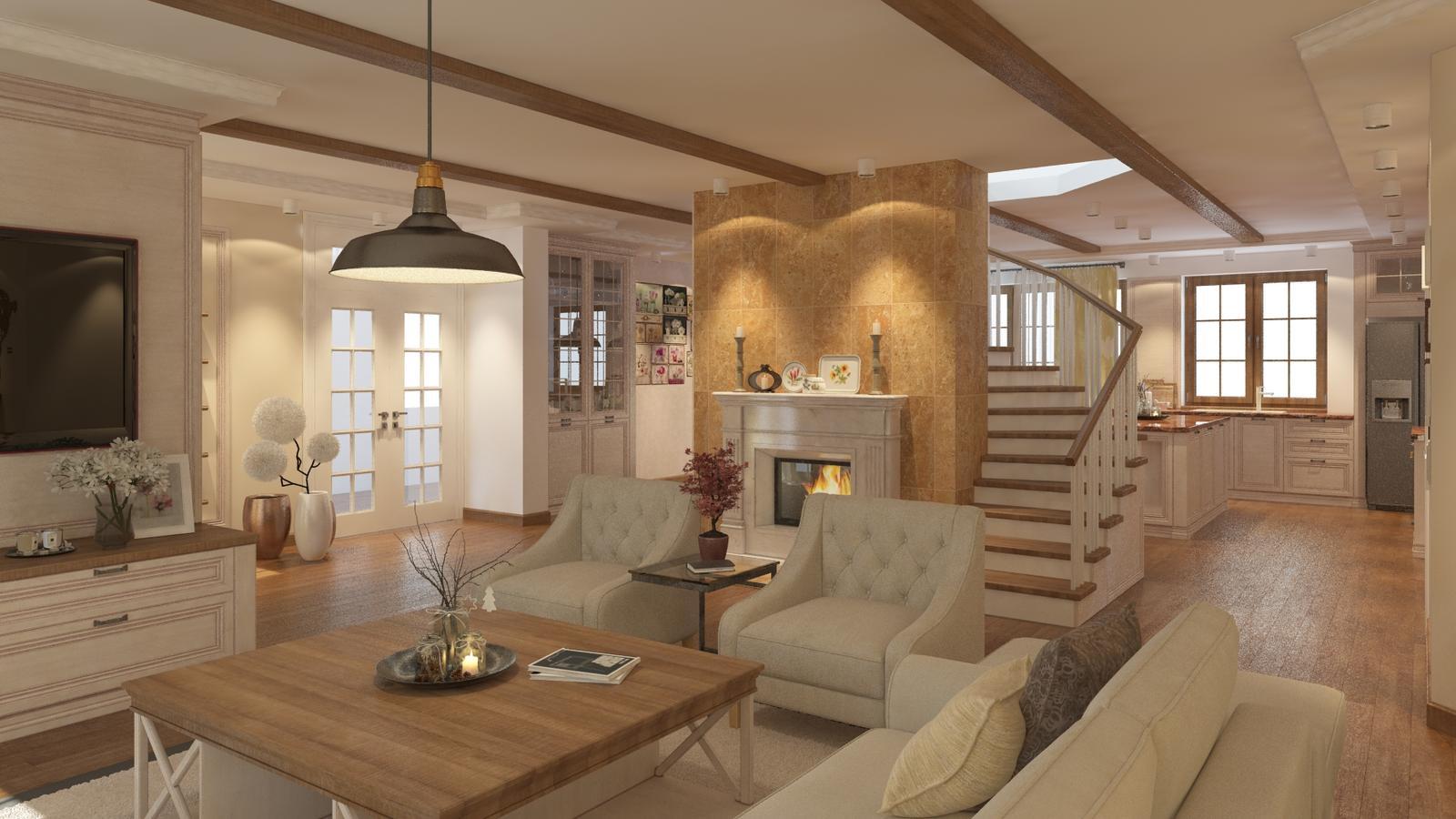 Návrh interiéru rodinného domu - Obrázok č. 1