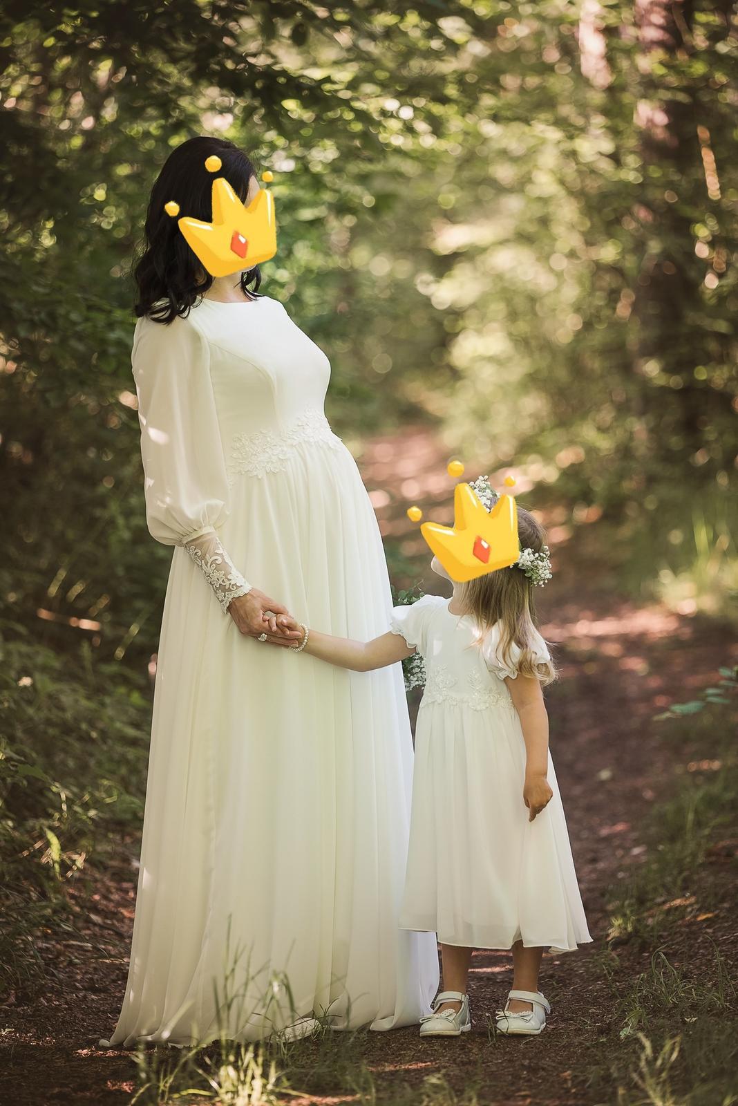 Tehotenské svadobné saty - Obrázok č. 1