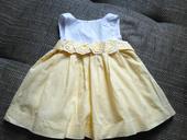 Žlutobílé slavnostní šatičky pro miminko, 68