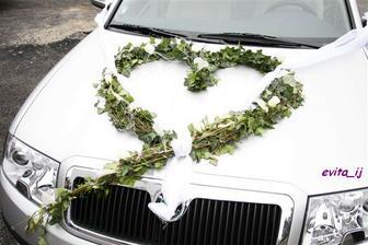 Předloha - srdce na auto nevěsty.