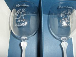 svatební skleničky!