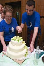 i na krájení dortu došlo...