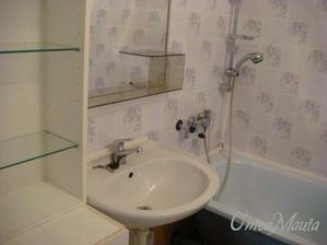 koupelna, umakart polepený tapetou