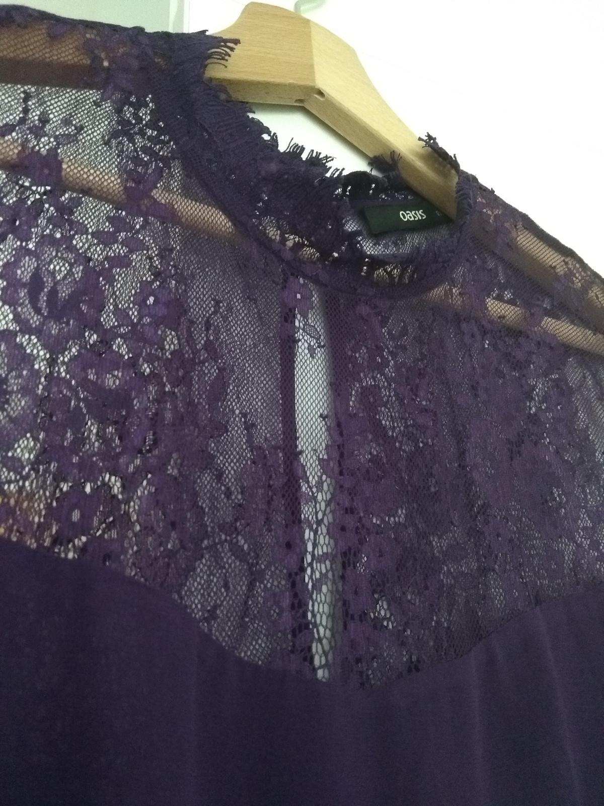 Fialové společenské šaty  - Obrázek č. 3