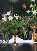 Zlaté mercury glass vázy,