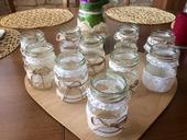 Vintage vázičky na kytky i na svíčky,