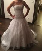 Biele svadobne saty s vleckou, princeznovy strih, 36