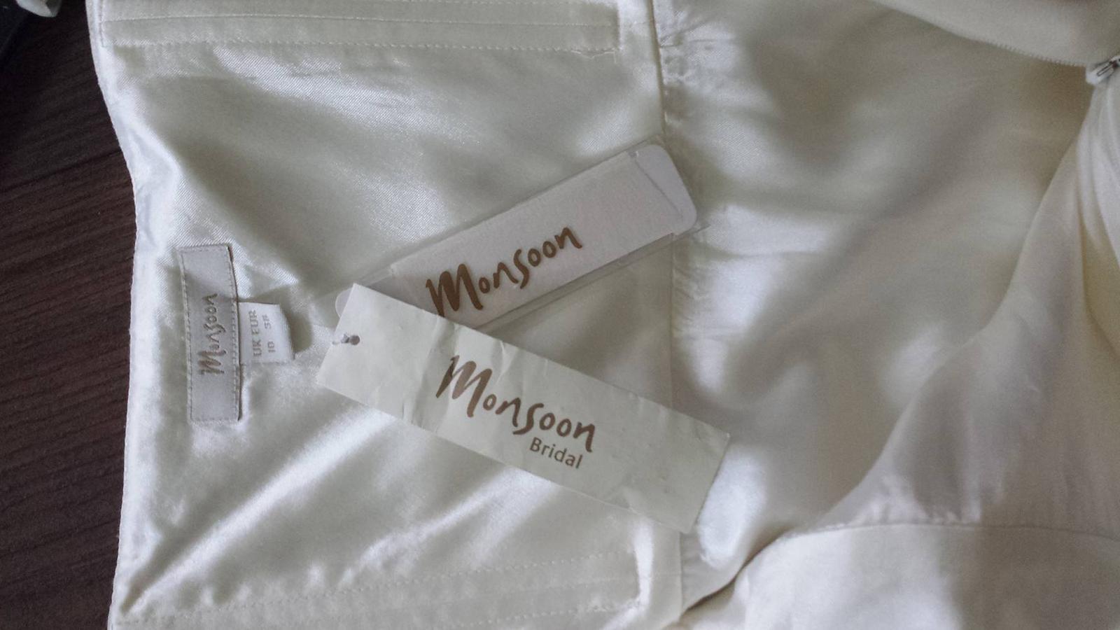 Svadobné šaty slonovinovej kosti zn. Monsoon  - Obrázok č. 3