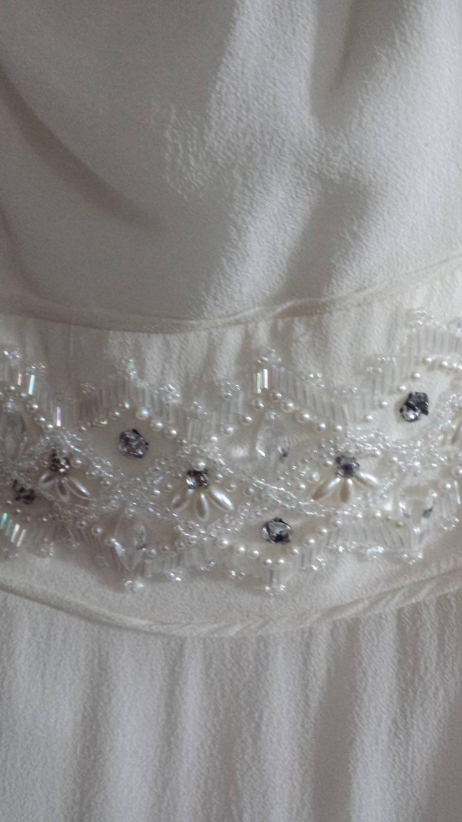 Svadobné šaty slonovinovej kosti zn. Monsoon  - Obrázok č. 4