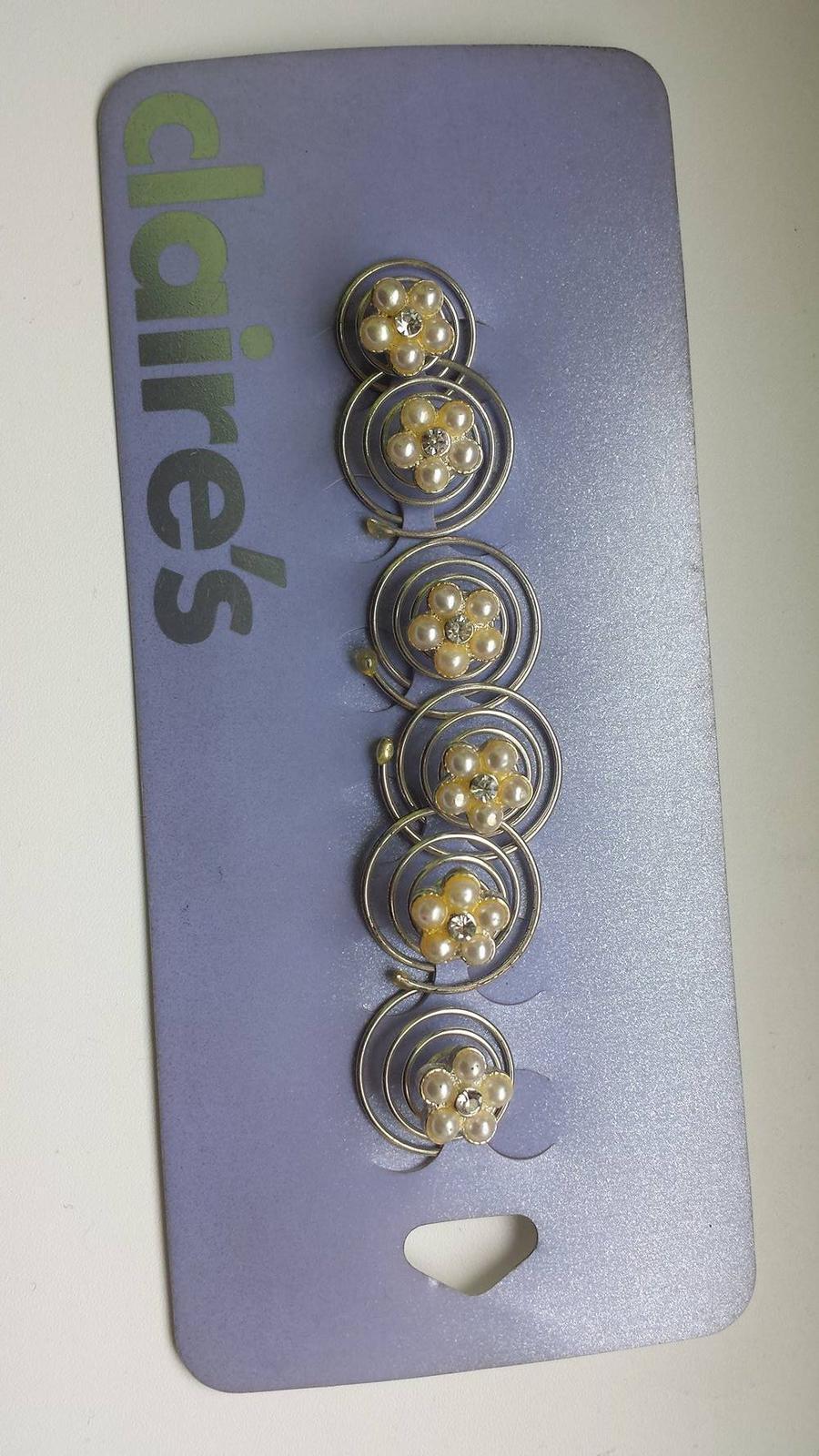Spiralky do vlasov perlickove kvetinky 6ks - Obrázok č. 1
