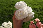 Umelé penové ruže ružové veľmi  kvalitné ,