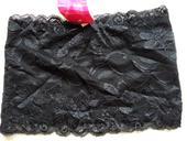 Černý podprsenkový pás, XS