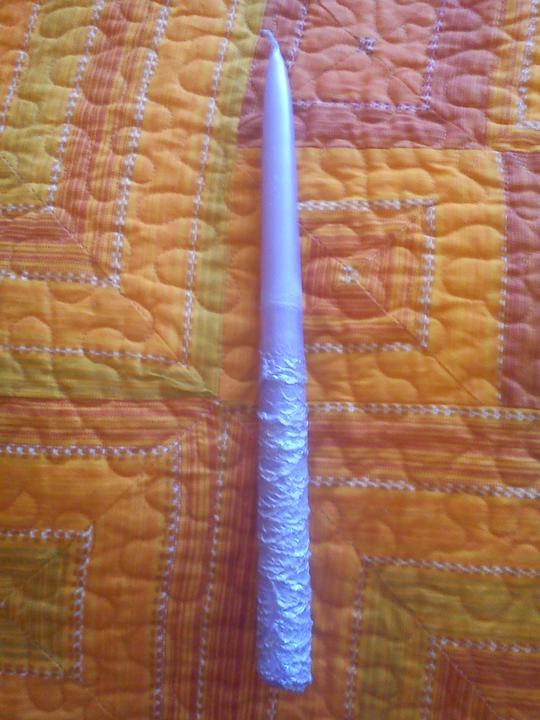 Náš deň D sa pomaličky blíži :-) - sviečky na hlavný stôl