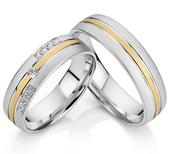 Snubní prsteny z chirurgické oceli,