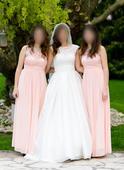 Spoločenské šaty - na svadbu pre družičku, L