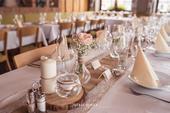 Vázy a skleničky na plovoucí svíčky s jutou,