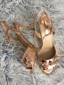 růžovozlaté sandálky dorothy perkins , 41
