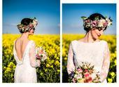 Celokrajkové svatební šaty - stále volné, 38