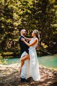 Pohodlné svadobné šaty, 36