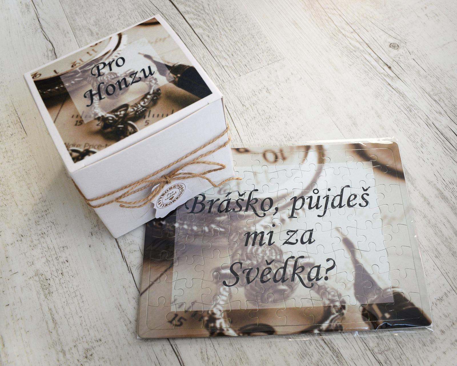 erika_rekniano - puzzle s krabičkou pro svědka