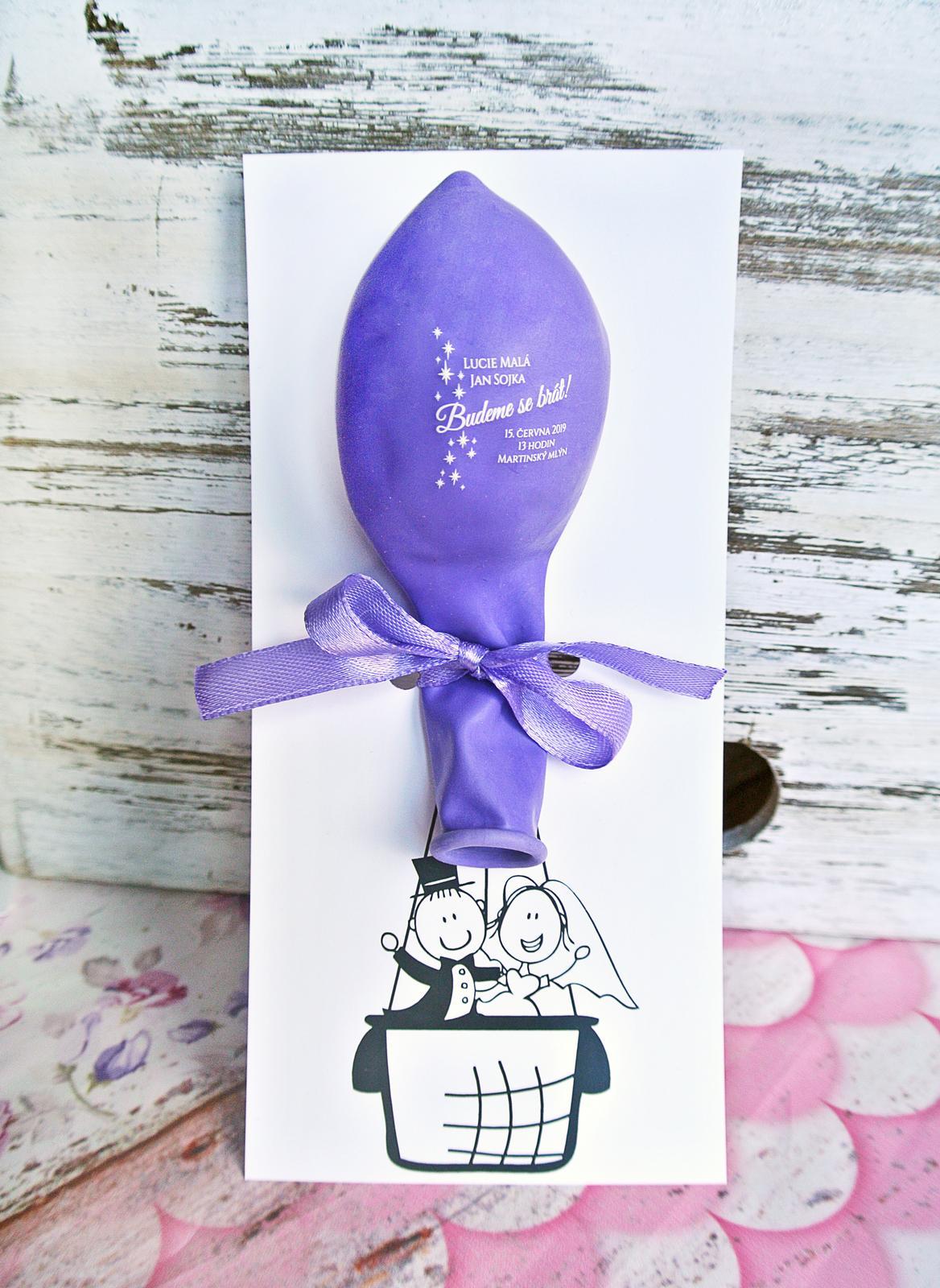 Originální balonkové svatební oznámení - Obrázek č. 2