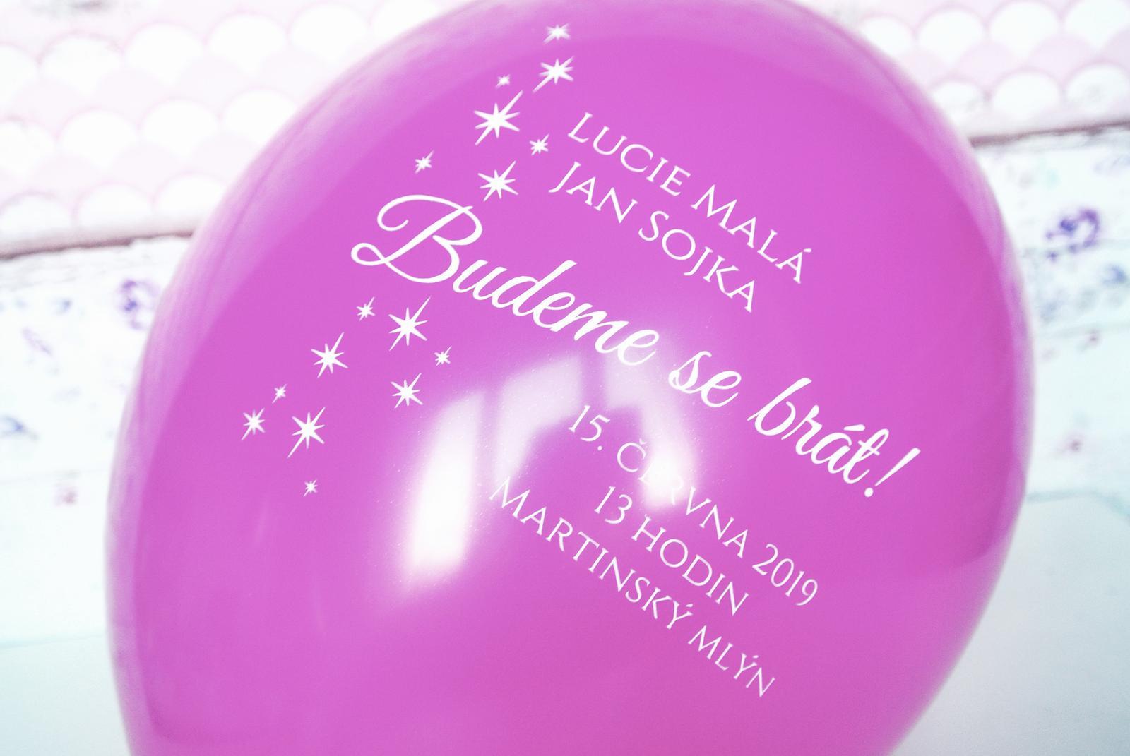 Originální balonkové svatební oznámení - Obrázek č. 5