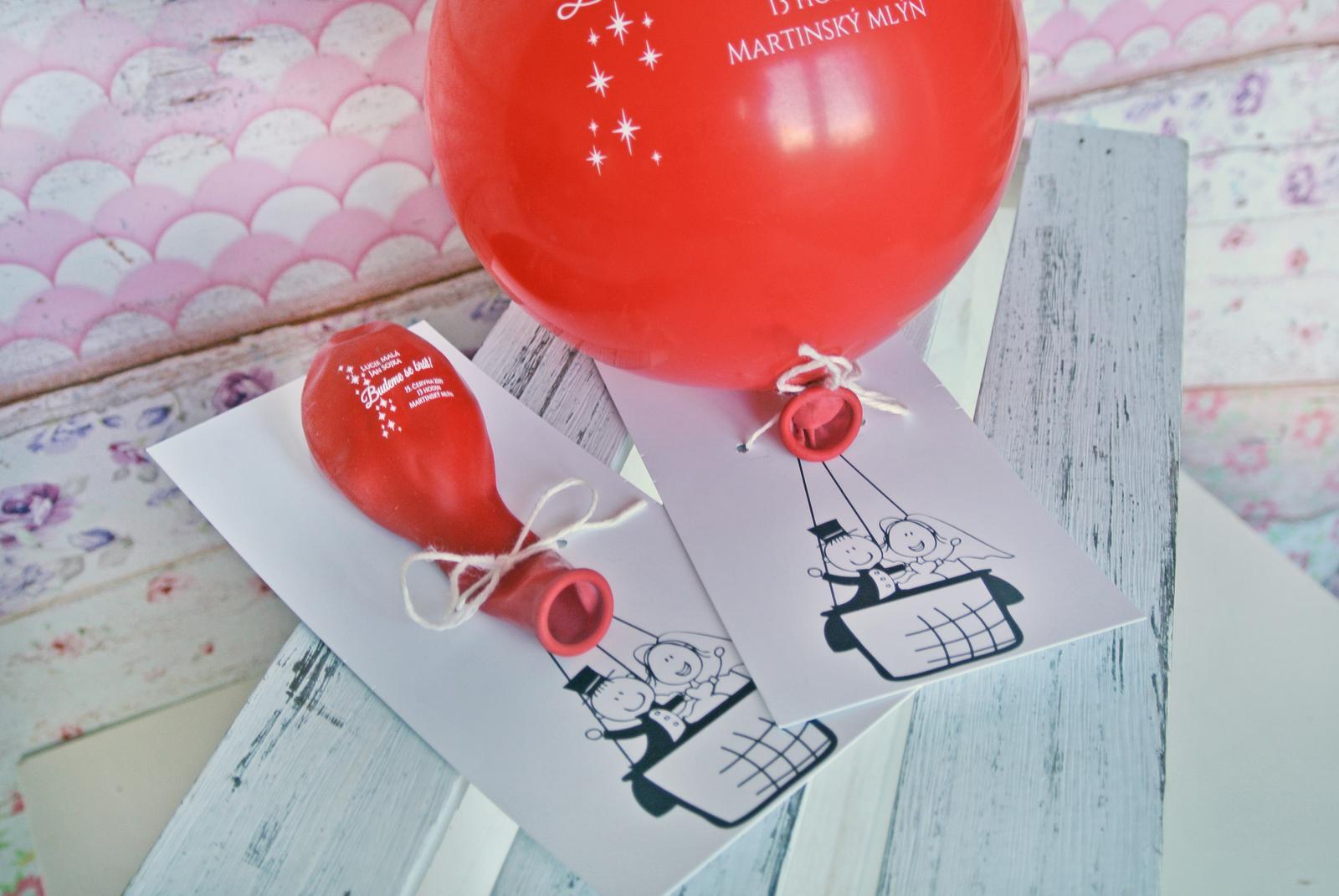 Originální balonkové svatební oznámení - Obrázek č. 6
