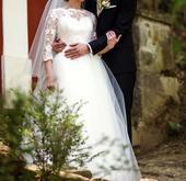 Svadobné šaty veľ 34,36, 36