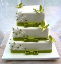 Náš dort, jen barva opět jiná!