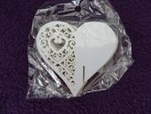 Jmenovky na skleničku ve tvaru srdce, 50 ks,