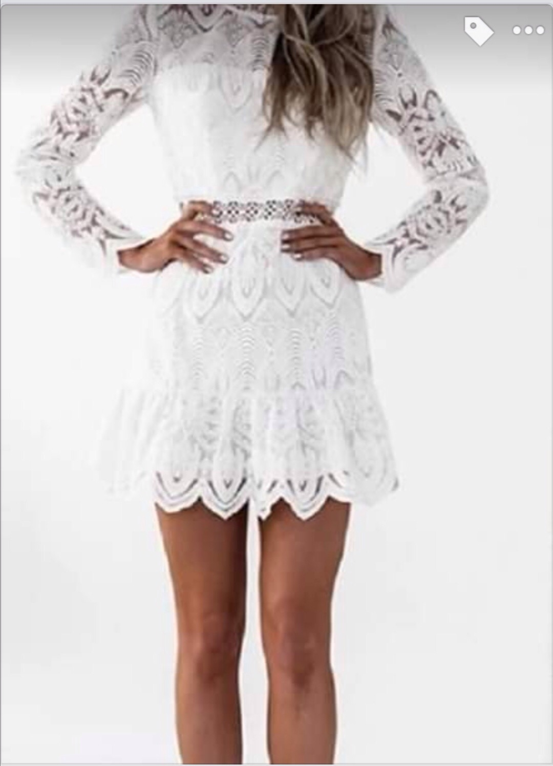 Bílé krajkové šaty vel. 36 - Obrázek č. 1