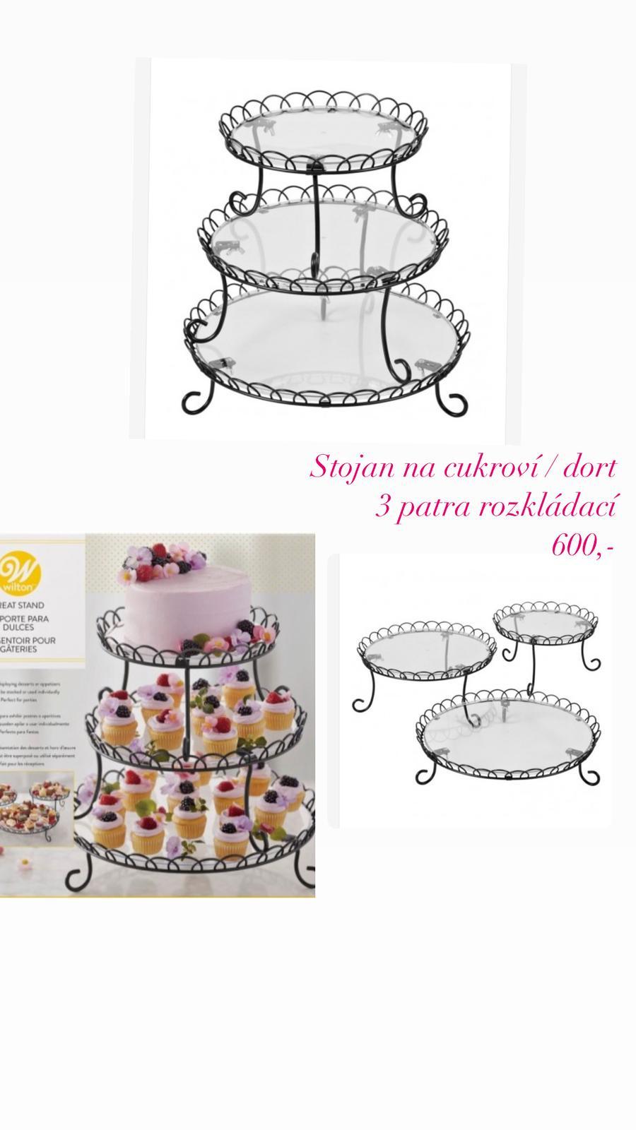 stojan na cukroví / dort 3 patra - Obrázek č. 1