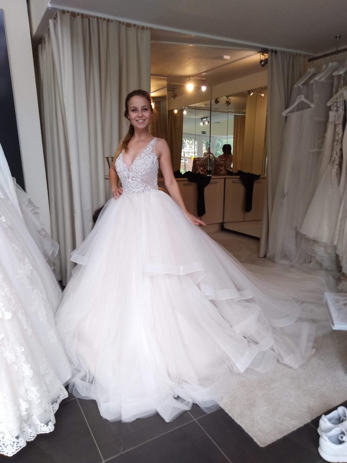 Svadobné šaty Nicole Spose veľkosť 34 - Obrázok č. 1
