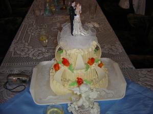 svatebni dort,malá chyba ruže měly být modré