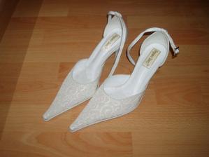 Svadobné topánky k mojim šatám
