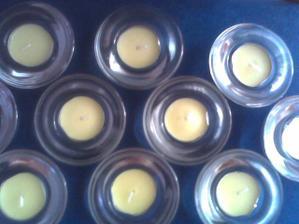 svíčky z Ikeii