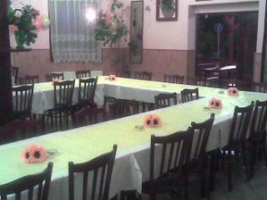 příprava na svatební hostinu