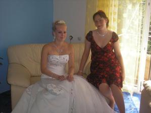 já a moje svědkyně před svatbou
