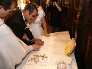 podpis pána manžela