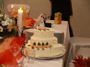 svadobná torta, dobručká