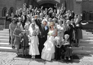 všichni svatebčané