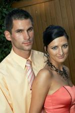 Ještě jednou my dva, a to na svatbě mého brášky v září 2005!