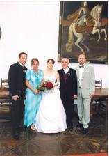 Celá rodina nevěsty.