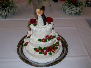 Náš svatební dort, byl moc dobrý.