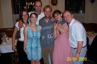 Naši sousedé s Milovic - Eva, Dušan, Irča, Jakub a my dva.