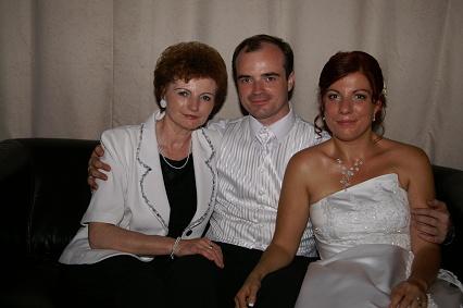 Žany Bendíková{{_AND_}}Mirko Jakubík - s našou maminkou a teraz už svokričkou