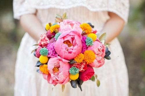Inspirace - Veselá, barevná kytice.