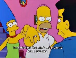 To znamená, že je můj majetek a vlastním jí :D
