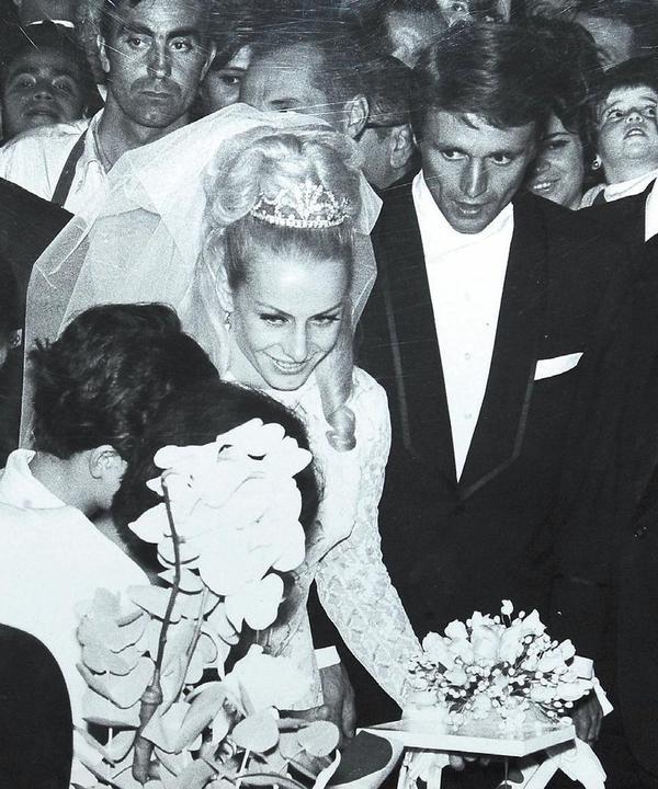 Svatby celebrit - Věra Čáslavská a Josef Odložil (1968)